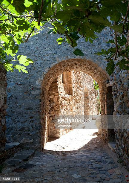 Greece, Monemvasia, alley in old town