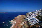 Greece, Peloponnesus, Thera (Santorini), scenic, elevated view