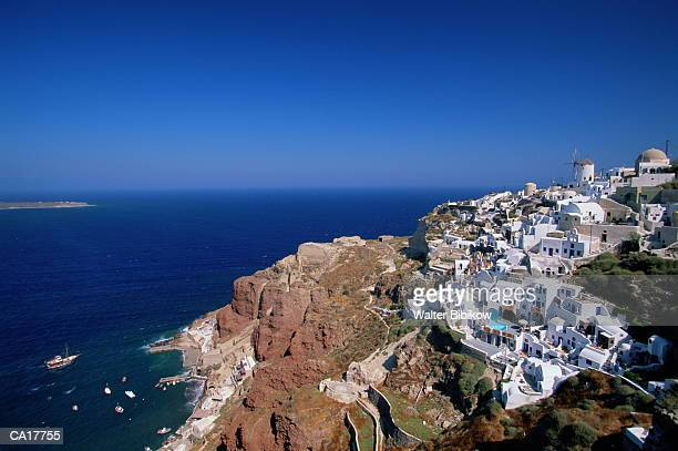 Greece, Peloponnesus, Thera (Santorini), scenic, elevated view