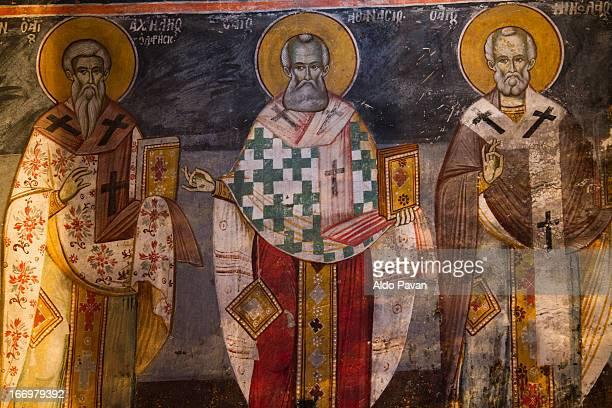 Greece, Prespa lake,  church of Ayios Germanos