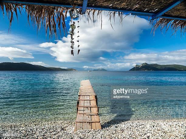 Greece, Skorpios, Pier