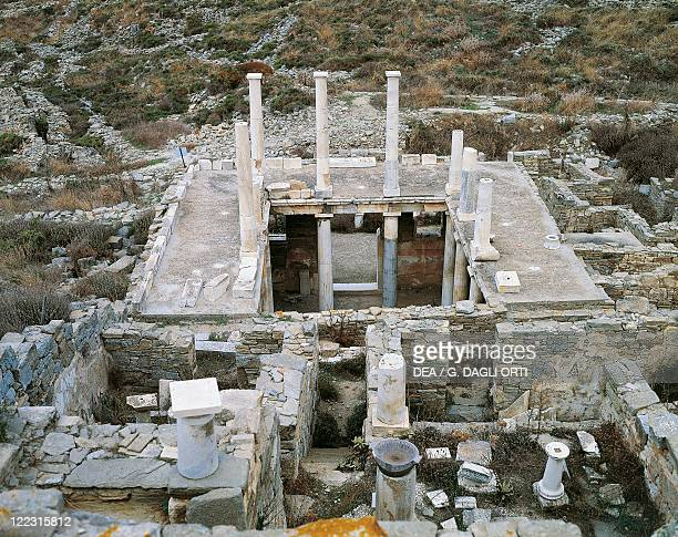 Greece Southern Aegean Cyclades Islands Delos House of Hermes
