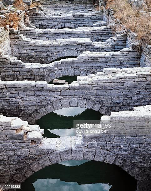 Greece Southern Aegean Cyclades Islands Delos Island Cistern near the Theatre Detail