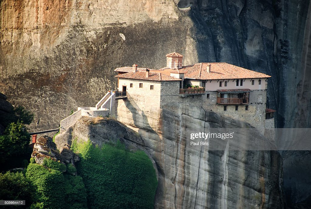 Greece, Thessaly, Meteora monasteries complex, View of Rousanou Monastery