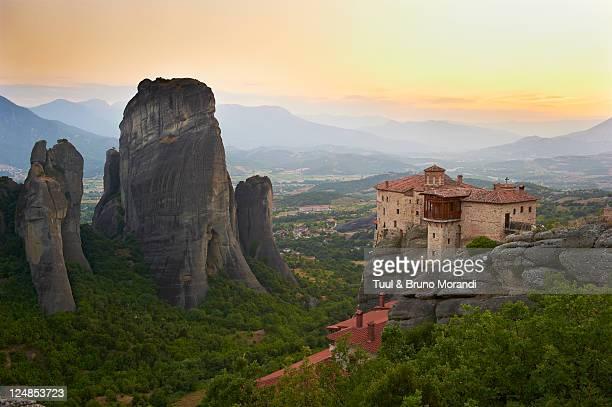 Greece, Thessaly, Meteora, Roussanou Monastery