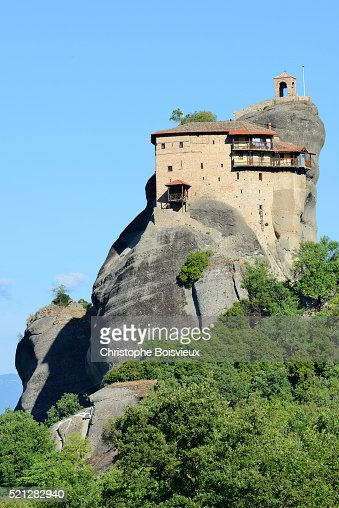 Greece Thessaly Meteora World Heritage Site Agios Nikolaos ...