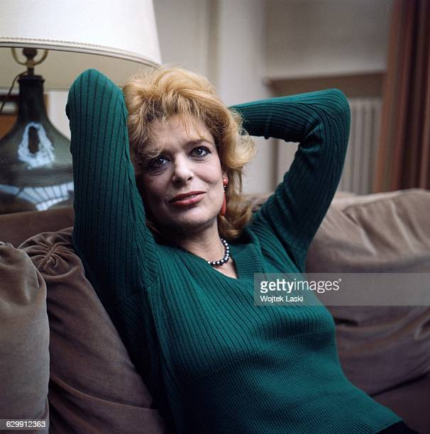 Greek actress singer and politician Melina Mercouri in her flat in Paris France in 1972
