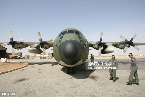 A Greek Airforce C130 transport plane in the Abeche region of Chad where Irish troops are carrying out a EUFOR peace keeping mission