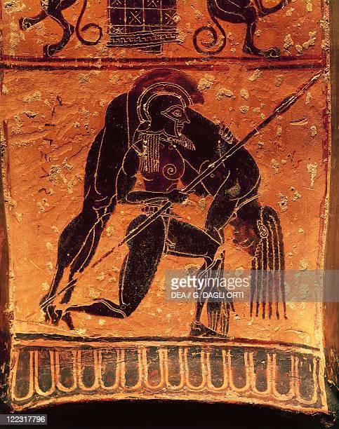 Greek civilization 6th century bC Blackfigure pottery Francois vase Attic volute krater signed by the potter Ergotimos and the painter Kleitias...