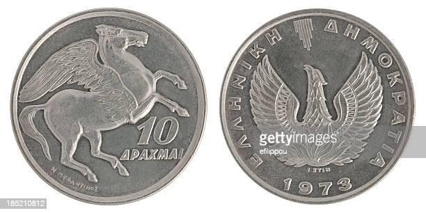 Greek Coin 10 Drachmas
