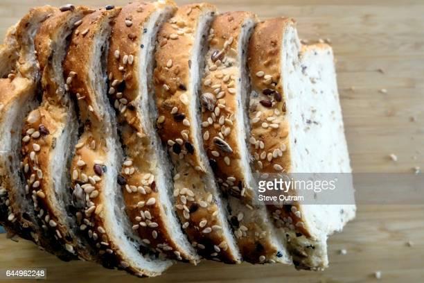 Greek Cuisine. Traditional Wholegrain Wheat with Rye Bread