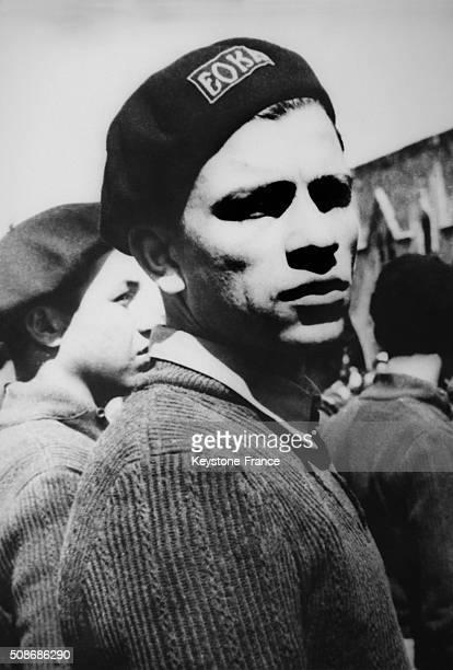 Greek Cypriot journalist Nikos Sampson in his EOKA uniform in Greece on January 14 1964