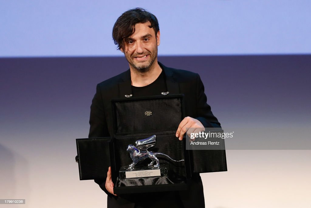 Greek director Alexandros Avranas poses with the Silver Lion for Best Director he received for his movie 'Miss Violence' at the Closing Ceremony during the 70th Venice International Film Festival at the Palazzo del Cinema on September 7, 2013 in Venice, Italy.