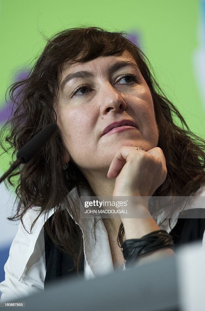 Greek director Athina Rachel Tsangari, jury member of the 63rd Berlinale film festival, attends a press conference in Berlin February 7, 2013. The 63rd Berlinale, the first major European film festival of the year, starts on February 7, 2013 with 24 productions screening in the main showcase.
