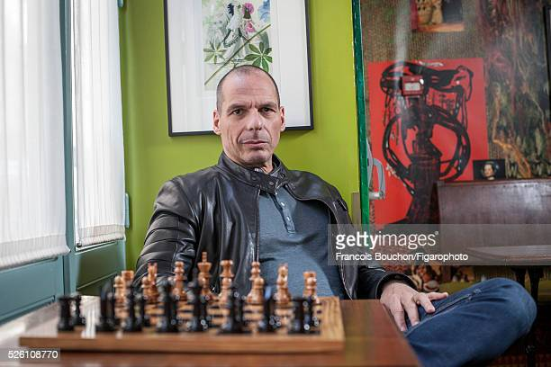 Greek economist and former Minister of Finance Yanis Varoufakis is photographed for Le Figaro Magazine on April 16 2016 in Paris France CREDIT MUST...