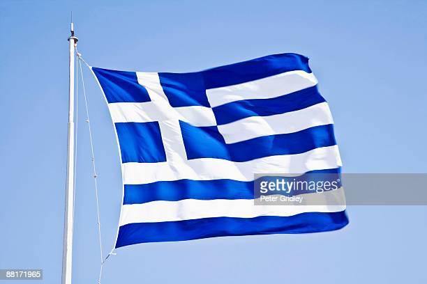 'Greek flag in Athens, Greece'