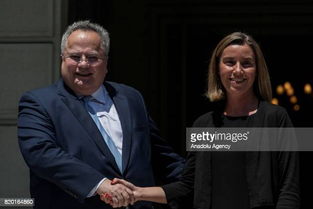 Greek Foreign Minister Nikos Kotzias welcomes EU's High Representative for Foreign Affairs and Security Policy and VP of the European Commission...