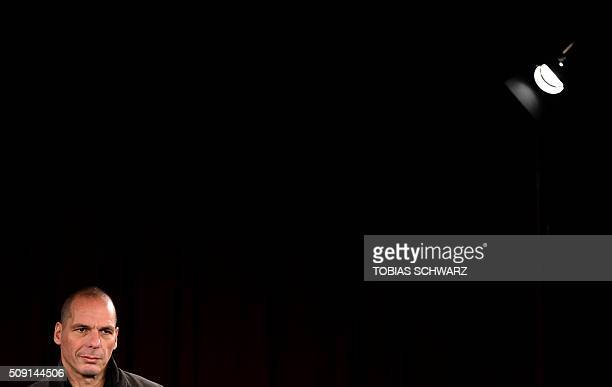 TOPSHOT Greek former Finance Minister Yanis Varoufakis addresses a news conference on the official launch of the Democracy in Europe Movement in the...