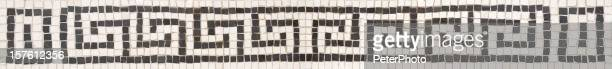 Greek key fret pattern made with mosaics