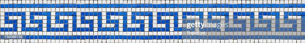 Greek key pattern mosaic