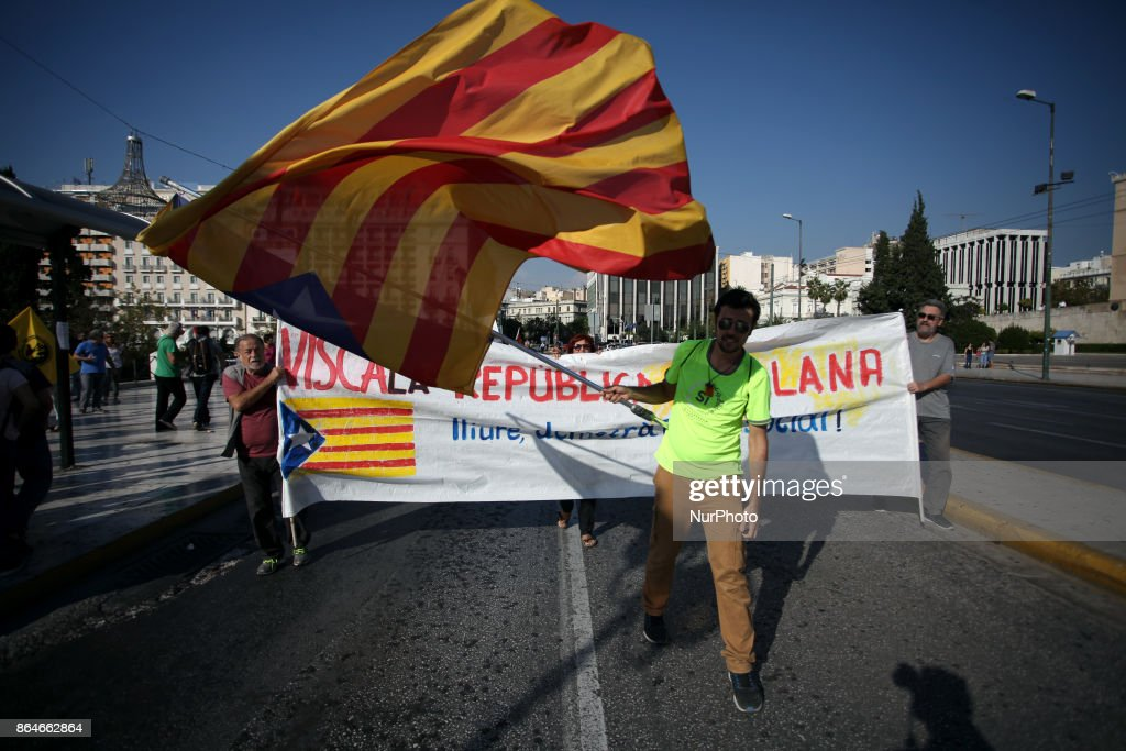 Rally in support to Catalonia's indepedence in Athens