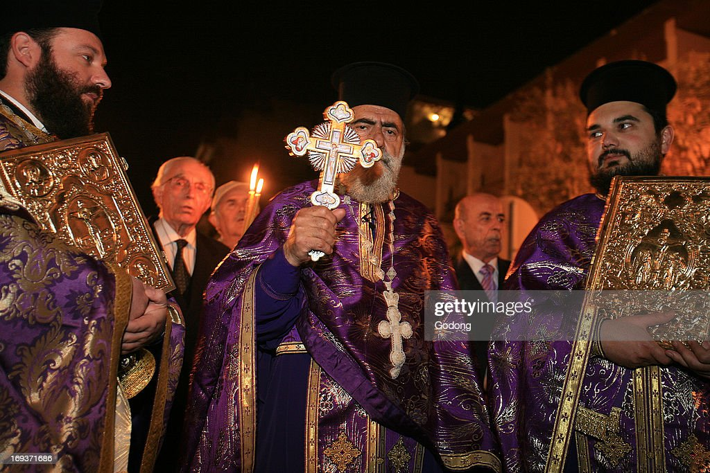 Greek orthodox procession on Good friday