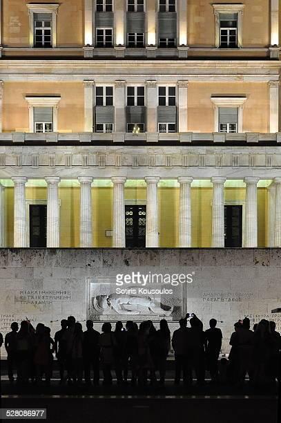 Greek Parliament crowd