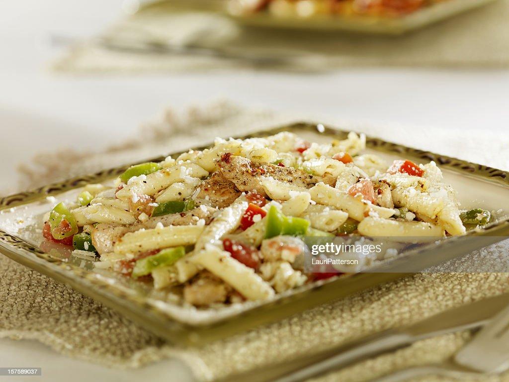 Greek Pasta Salad with Grilled Chicken
