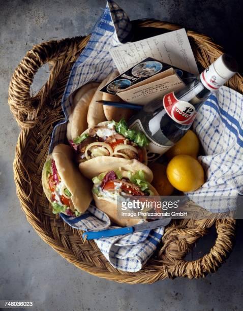 Greek picnic basket