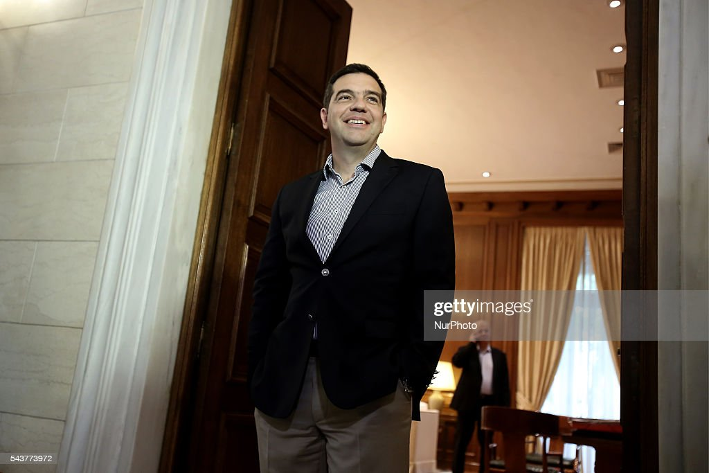 Greek PM Alexis Tsipras in his office before his meeting with German Vice Chancellor, at Maximos mansion in Athens Greece, on June 30, 2016