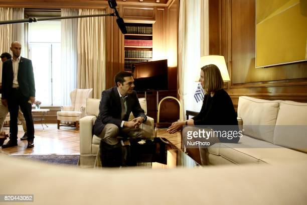 Greek PM Alexis Tsipras meets high Representative of the European Union for Foreign Affairs and Security Policy and VicePresident of the European...