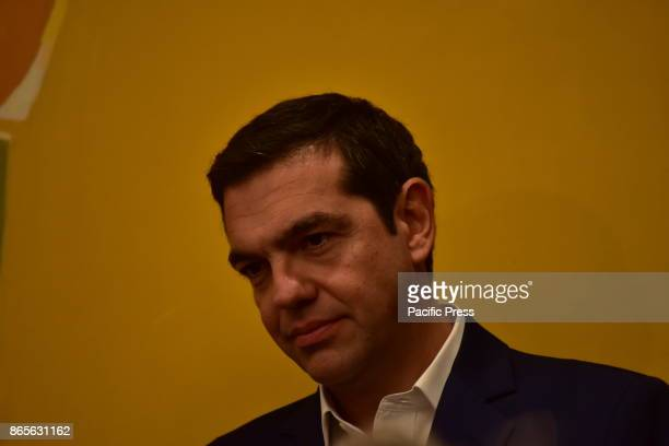 MANSION ATHENS ATTIKI GREECE Greek Prime Minister Alexis Tsipras during the signature of the memorandum of cooperation between Greece and South Korea