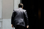Greek Prime Minister Alexis Tsipras enters at the Maximos Mansion on July 2 2015 in Athens Greece As people continue to queue outside banks Greek...