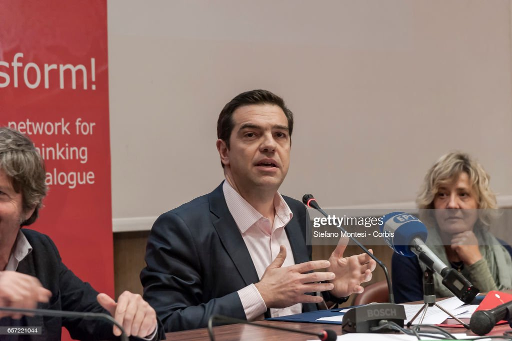 Greek Prime Minister Alexis Tsipras in Rome : News Photo