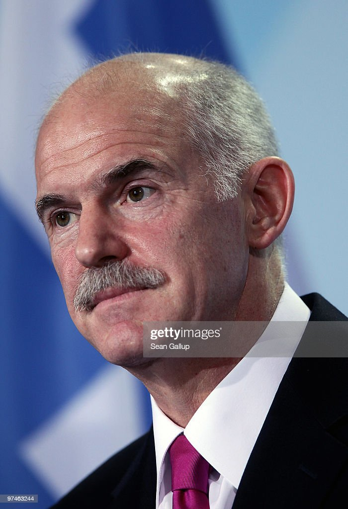 Merkel Meets With Greek Prime Minister Papandreou