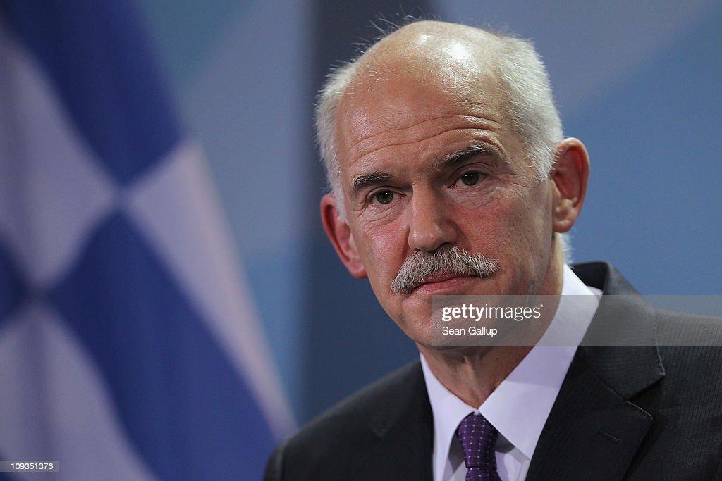 Merkel Holds Talks With Papandreou