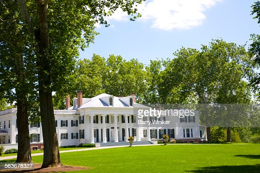 Georgian Colonial Mansion greek revival colonial georgian mansion nj stock photo | getty images