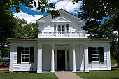Greek revival style house. Public place Greenfield Village, Michigan, USA
