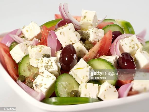 Salade grecque gros plan