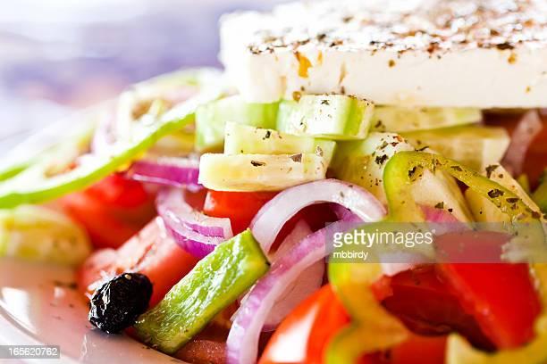 Greek salad, close-up