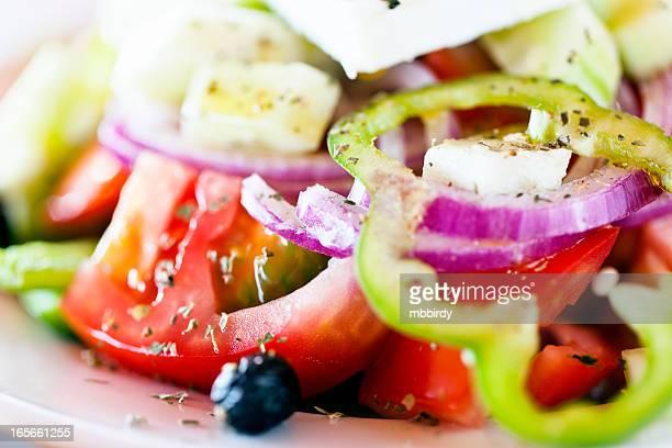 Salade grecque, gros plan