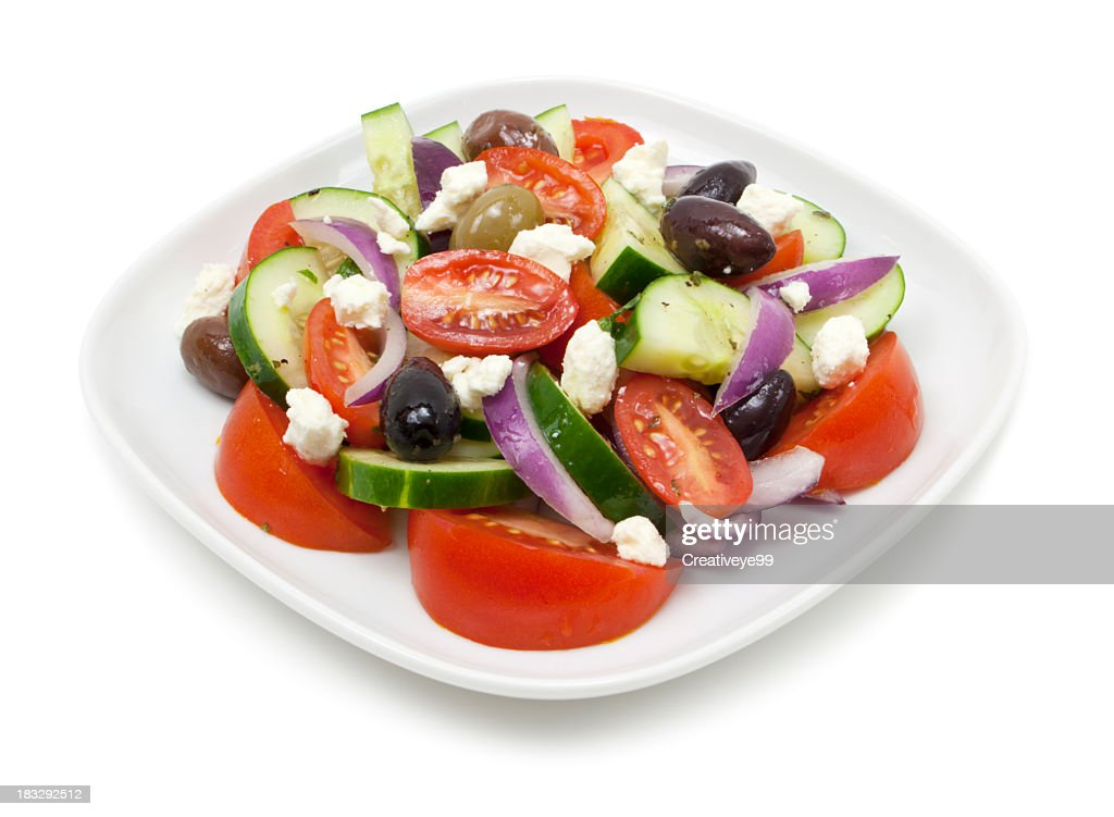 Greek salad plate : Stock Photo