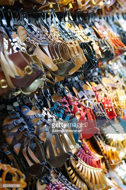 Greek Sandals on Sale at the Plaka Shopping Street