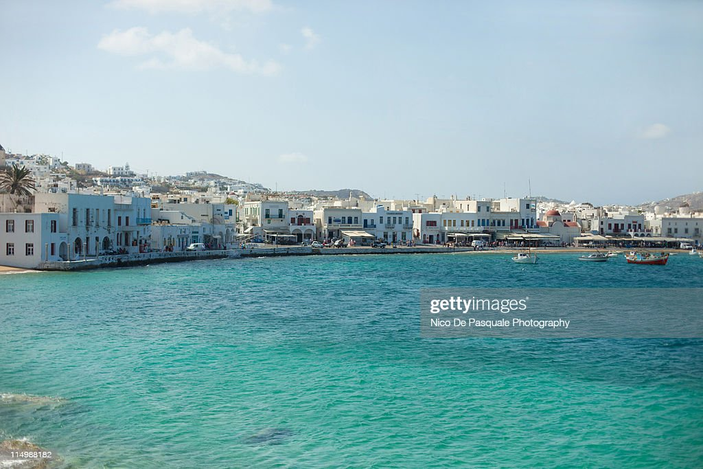 Greek sea and village