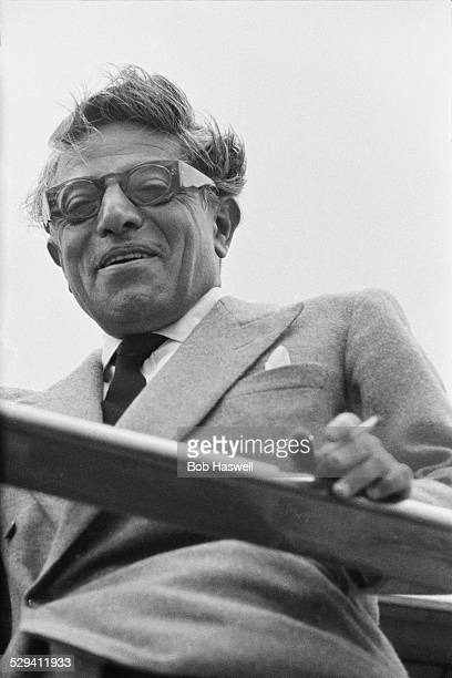Greek shipping magnate Aristotle Onassis on board his private motor yacht 'Christina' 9th March 1960