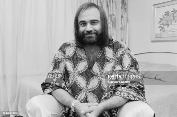 Greek singer Demis Roussos London 12th March 1974