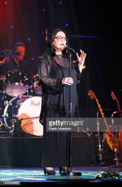 Greek singer Nana Mouskouri performs live during a concert at the Admiralspalast on April 24 2012 in Berlin Germany