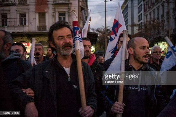 Greek Union PAME demonstrate in Athens against the continuing austerity measures imposed by the Greek government
