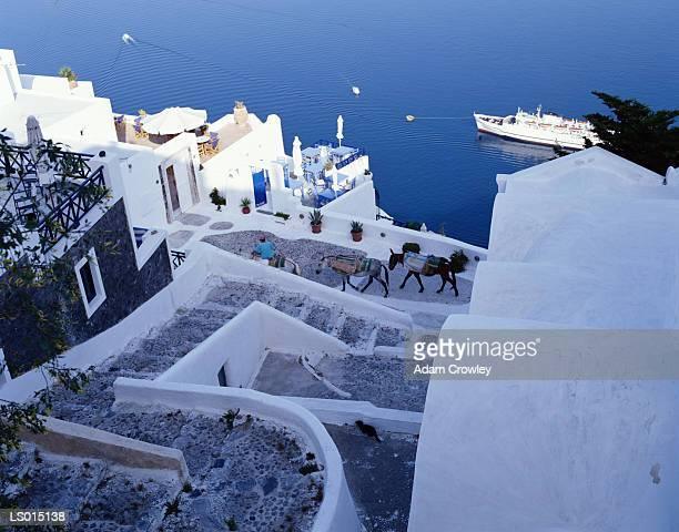 Greek Village Scene