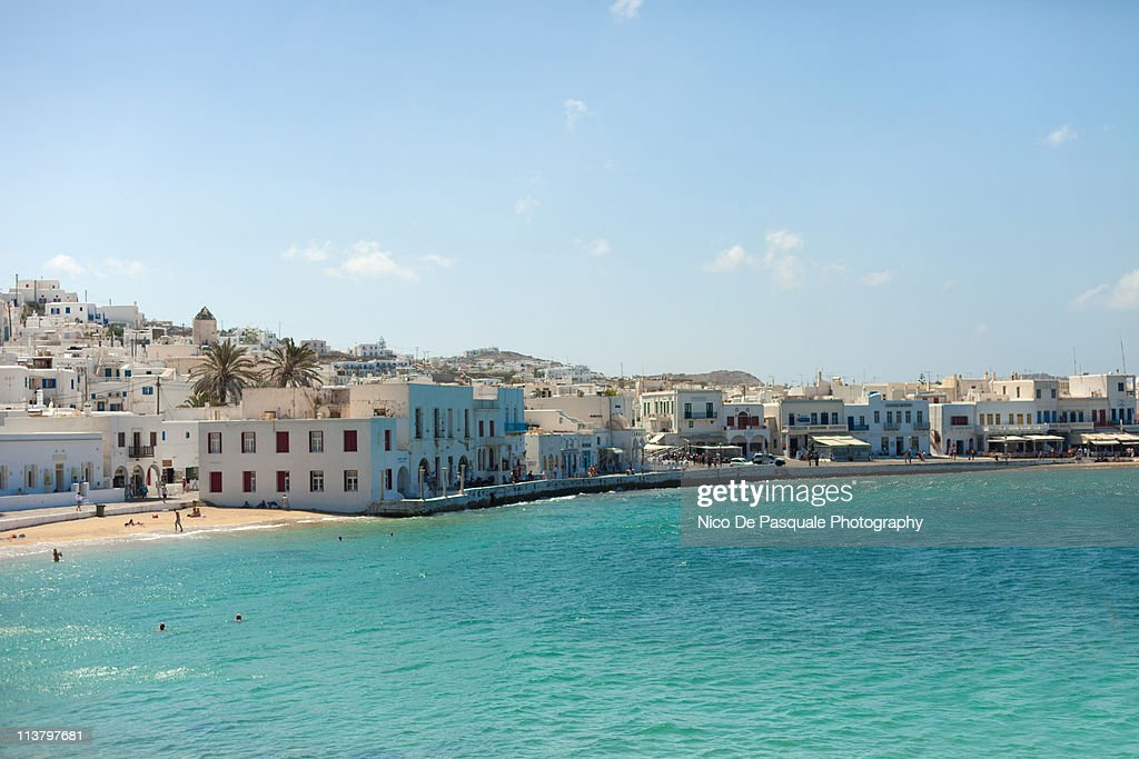 Greek with white houses and marvelous sea